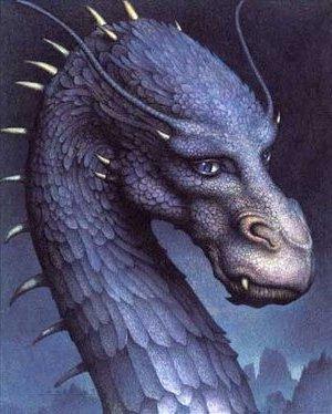 Saphira gloriosa na capa do Eragon