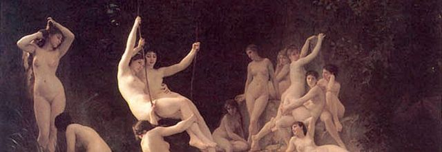 Nymphs, de William Bouguereau