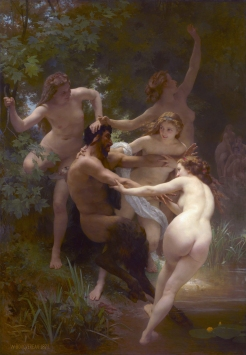 Nymphs and Satyr, de William Bouguereau