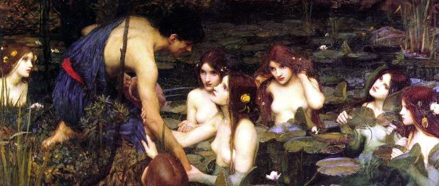 Hylas and the Water Nymphs (Naiads), J. W. Waterhouse
