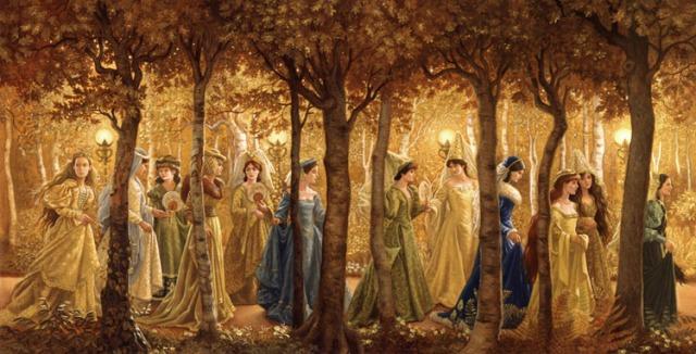 Ilustração as Doze Princesas Bailarinas de Ruth Sanderson